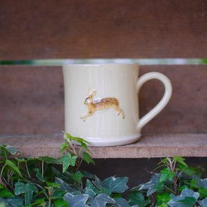 Jane Hogben Leaping Hare Mug in Yellow