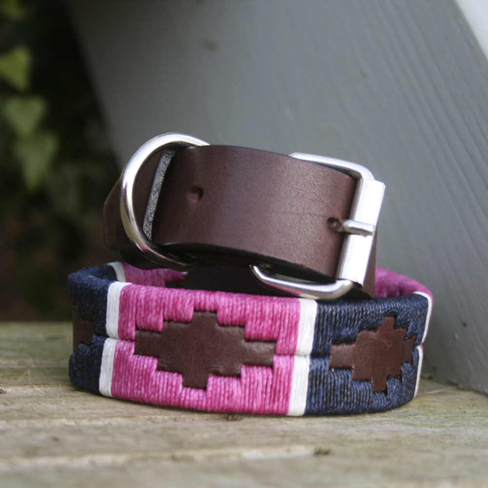 Dog Collar Name Stitched