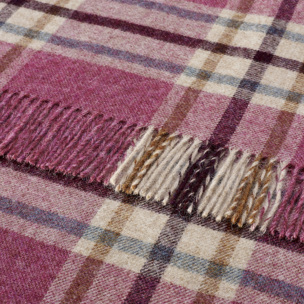 Bronte by Moon Arncliffe Berry Pure New Wool Throw