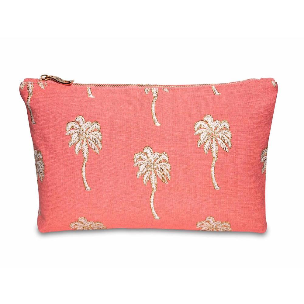 Elizabeth Scarlett Palmier Coral Wash Bag
