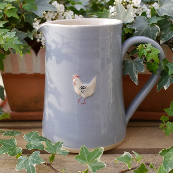 Jane Hogben Blue Chicken Large Jug
