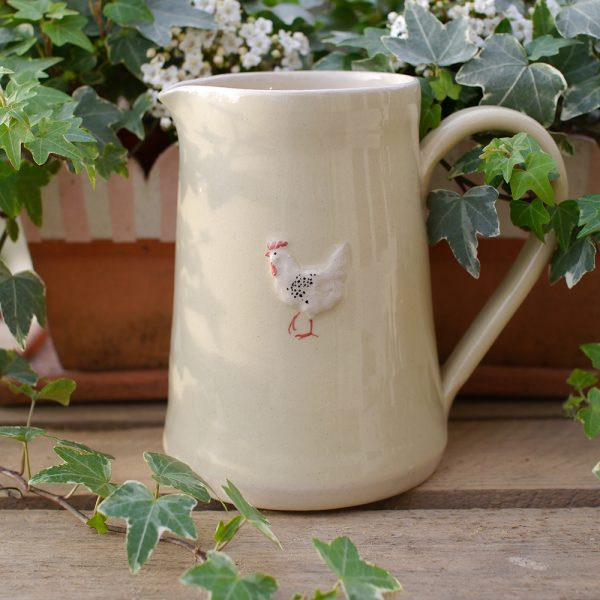Jane Hogben Cream Chicken Large Jug