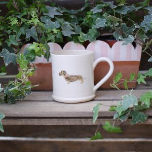 Jane Hogben Dachshund Mug in Cream