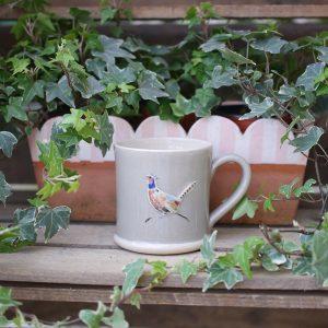 Jane Hogben Pheasant Taupe Mug