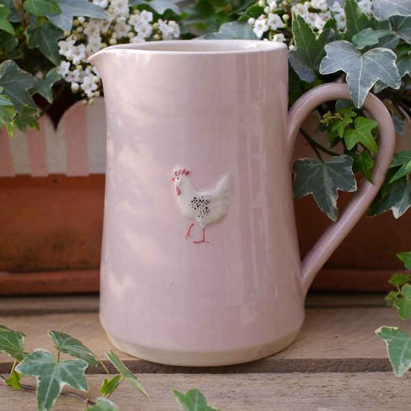 Jane Hogben Pink Chicken Large Jug