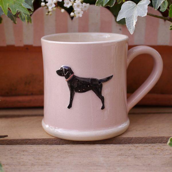 Jane Hogben Pink Labrador Mug