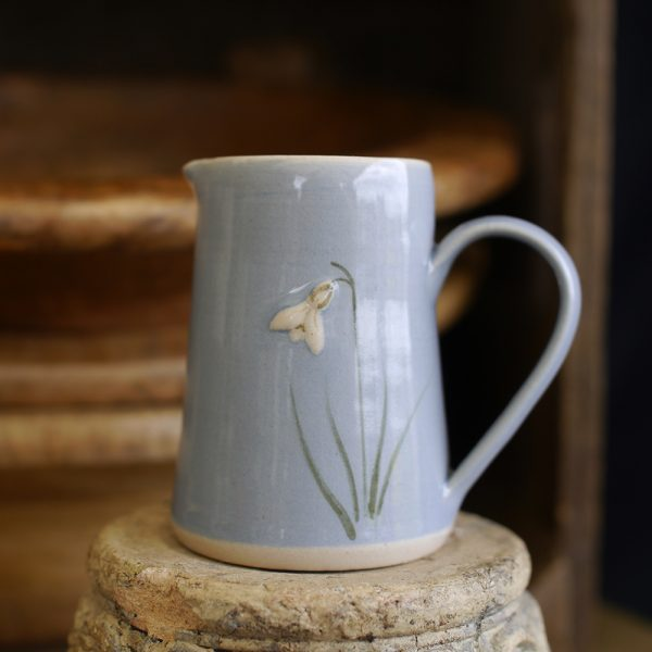 Jane Hogben Snowdrop Small Jug Blue