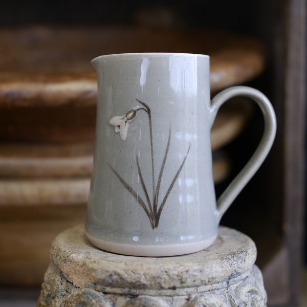 Jane Hogben Snowdrop Small Jug Taupe