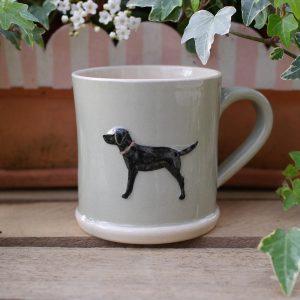 Jane Hogben Taupe Labrador Mug