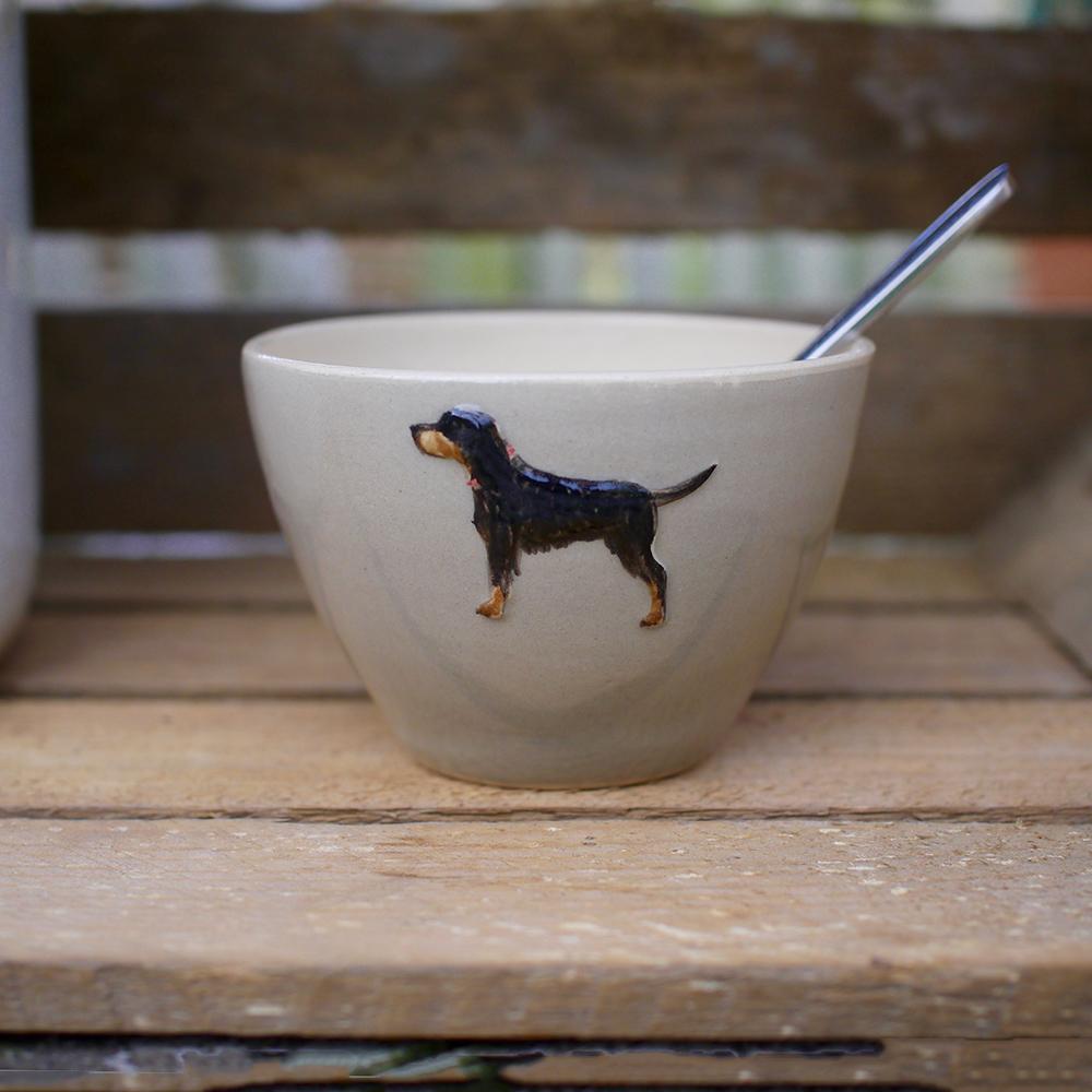 Jane Hogben Setter Taupe Sugar Bowl