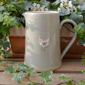 Jane Hogben Taupe or Green Chicken Large Jug