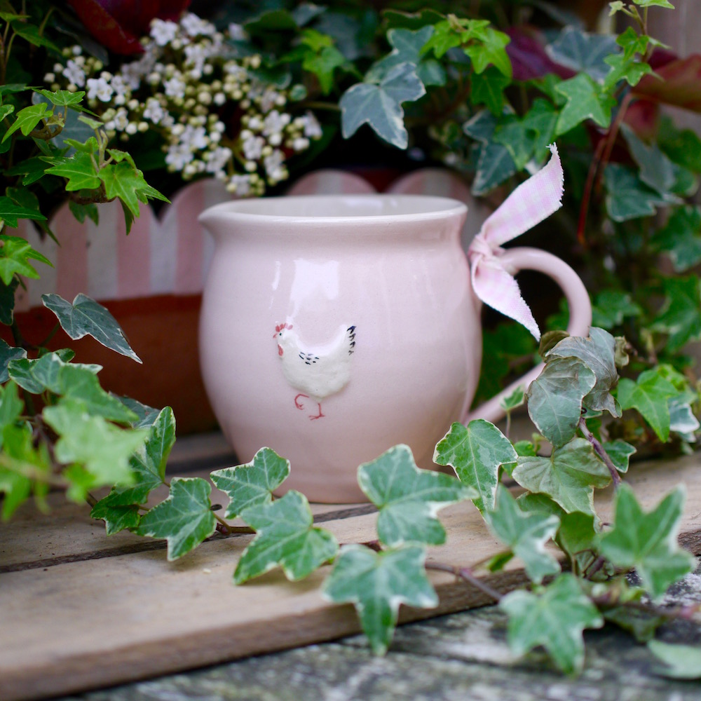 Jane Hogben Pottery Bellied Jug in Pink