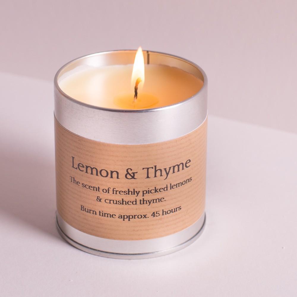 St Eval Candle tin with the popular citrus fragrance of Lemon & Thyme