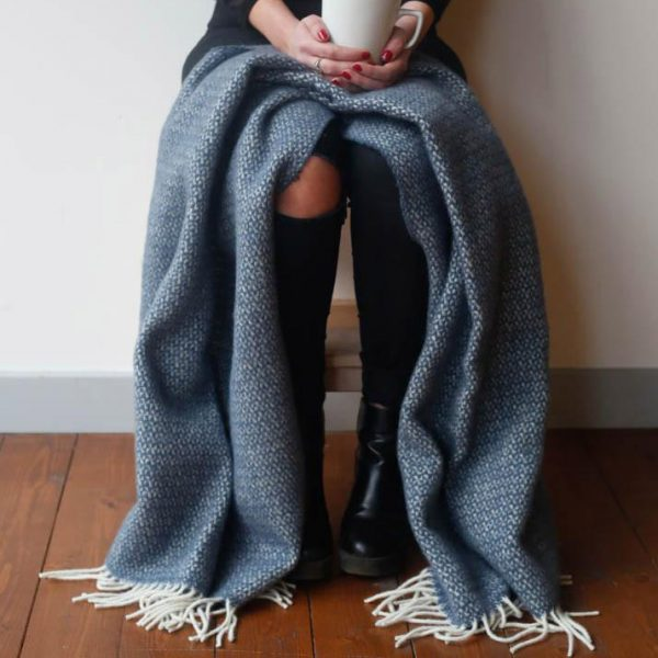 Blue Slate Illusion Knee Blanket