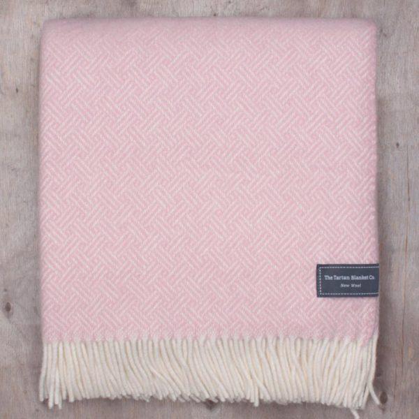 Dusty Pink Basket Weave Knee Blanket