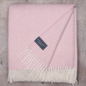 Dusty Pink Basket Weave Knee Blanket