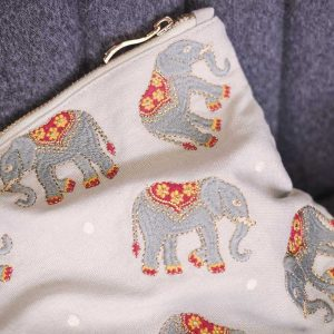 Elizabeth Scarlett Elephant Travel Pouch