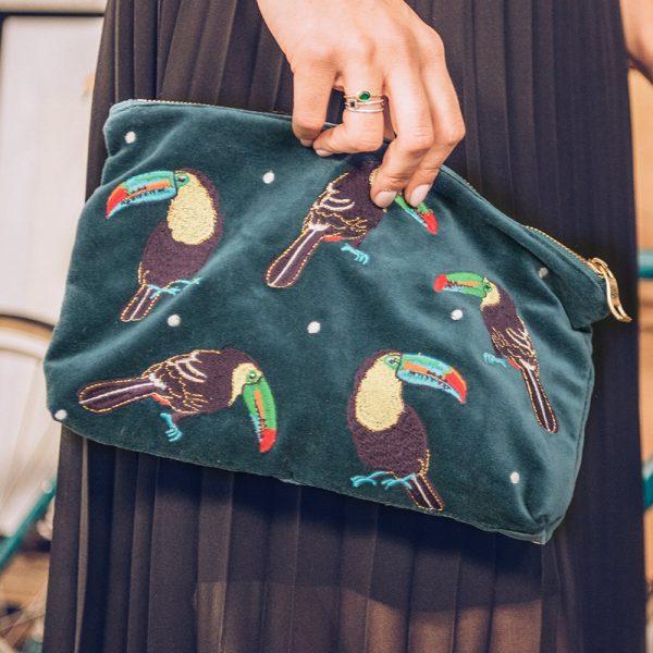 Elizabeth Scarlett Toucan travel pouch