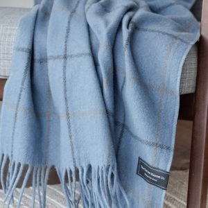 Sky Blue Recycled Wool Knee Blanket