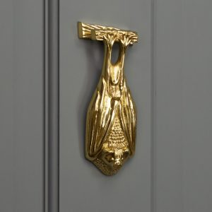 Solid Brass Bat Door Knocker