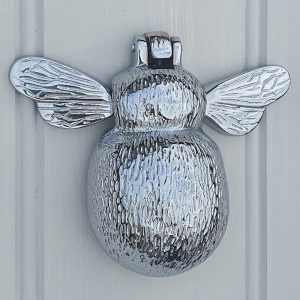 Solid Brass Chrome Bumble Bee Door Knocker