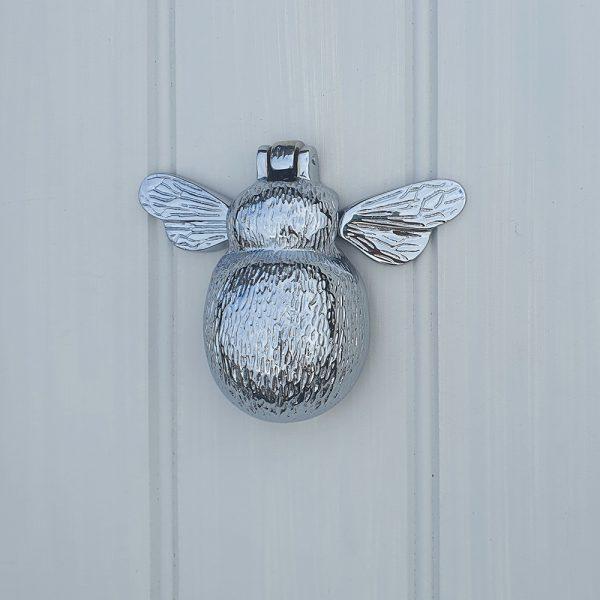Solid Brass Chrome Bumble Bee Door Knocker