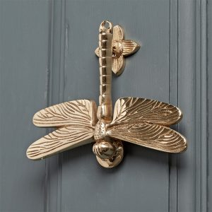 Solid Brass Dragonfly Door Knocker