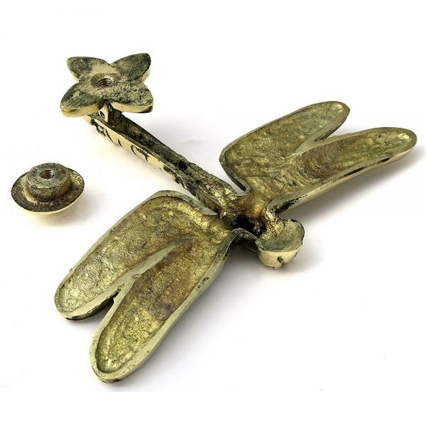 Solid Brass Dragonfly Door Knocker