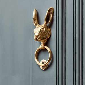 Solid Brass Hare Door Knocker