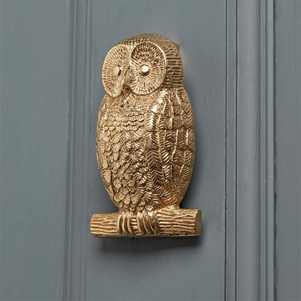 Solid Brass Owl Door Knocker