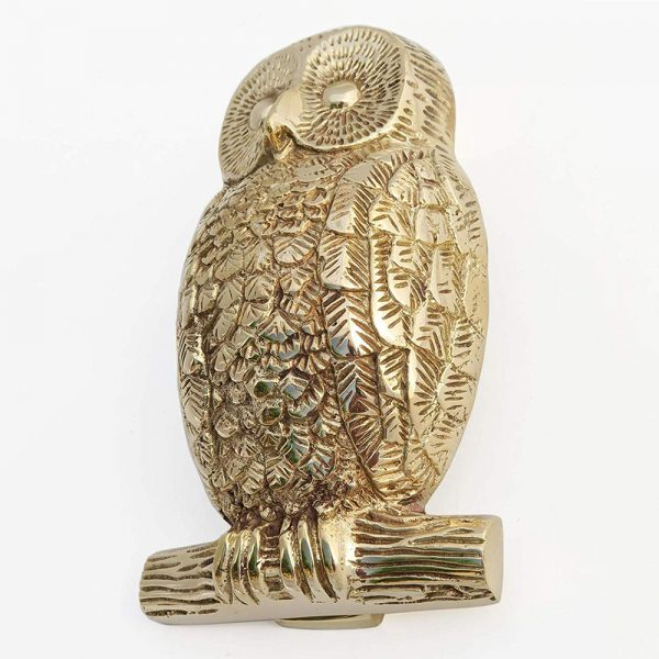 Solid Brass Owl Door Knocker
