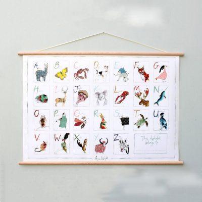 Anna Wright Alphabet Poster