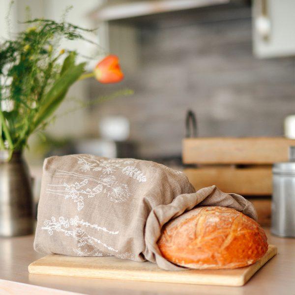 Linen bread bag Natural