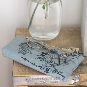 Linen glasses case Duck Egg Blue
