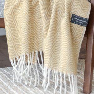 Mustard Herringbone Blanket
