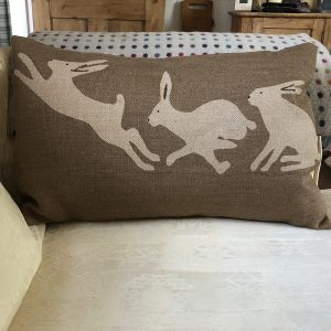 Helkatdesigns 3 Hares Cushion