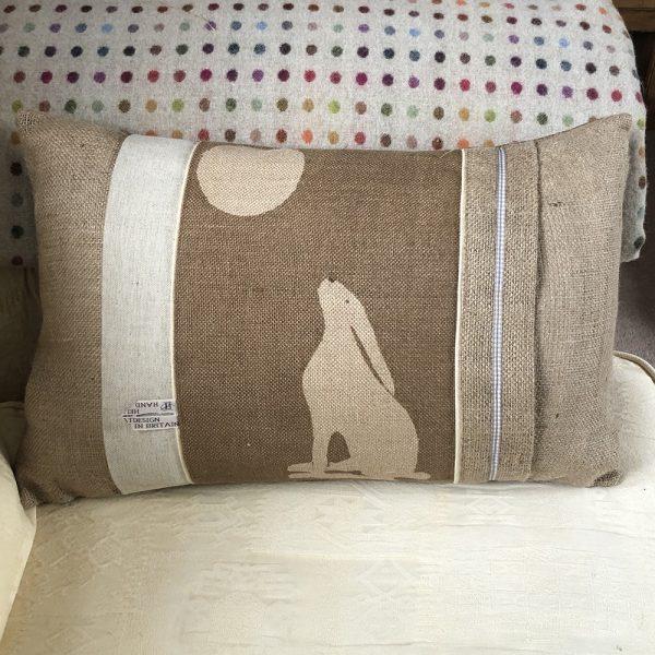 Helkatdesigns 3 Hares Cushion