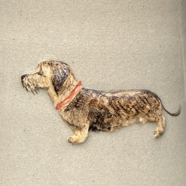 Jane Hogben Dachshund Medium jug Taupe