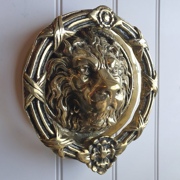 Solid Brass Castle Door Knocker Lion