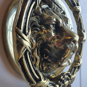 Solid Brass Castle Door Knocker Lion