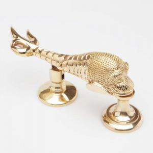 Mythical Sea Serpent Brass Door Knocker