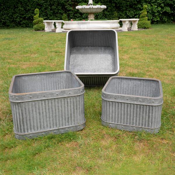 Fey Hortus set of Square Tubs